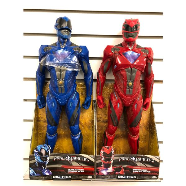 Pair of 20in Power Rangers action figures