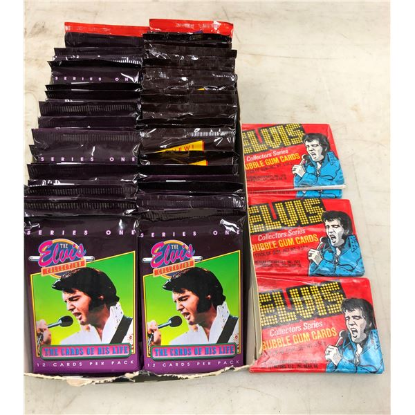 Box of unopened Elvis Presley collectors' cards - 53 packs