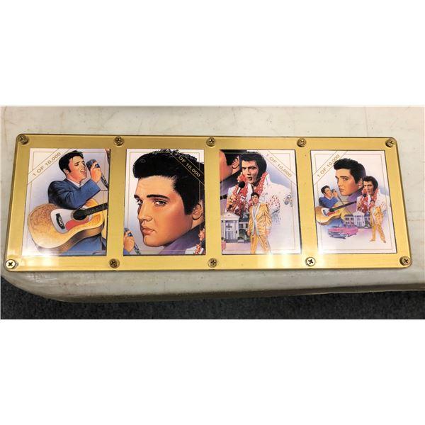 Sealed Rockstreet 4 pc. Elvis Presley promo card set - #1/ #2/ #3 & #4 limited edition 1/10000