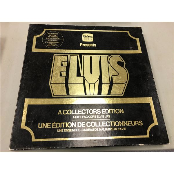 Collectors' edition gift pack of 5 Elvis Presley record albums & photo album