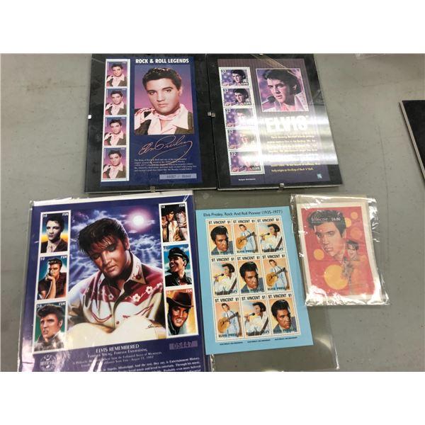 Five sets of Elvis Presley collector's stamps