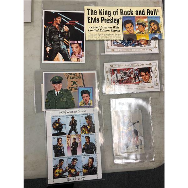 Six sets of Elvis Presley collector's stamps