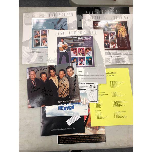Group of Elvis Presley collector's stamp sets & memorabilia