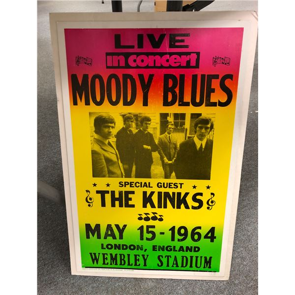 Live in concert Moody Blues Special Guest The Kinks May 15 - 1964 London, England Wembley Stadium ad