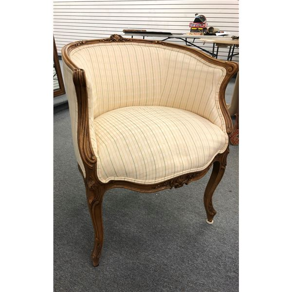Antique carved wood framed parlour chair