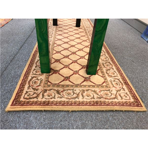 Approx. 2 1/2ft x 15ft wool area rug runner