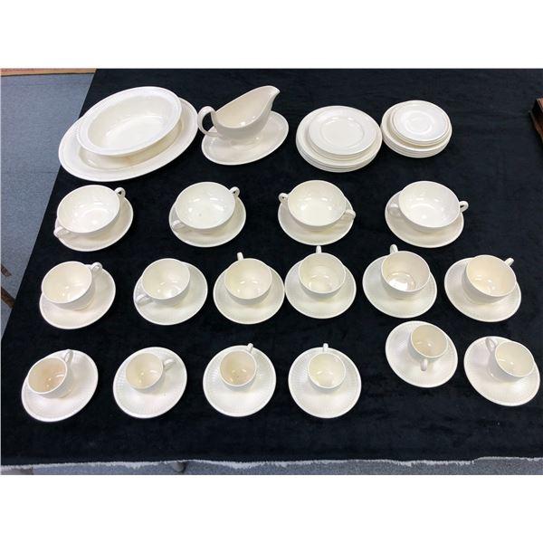 51 pcs. of antique Wedgewood & Barlaston of Etruria Made in England partial dinnerware set