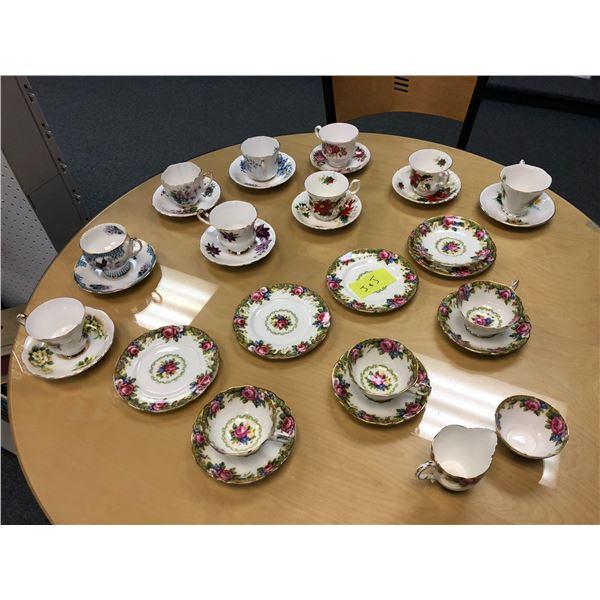 31 pcs. of assorted English Bone China tea cups & saucers