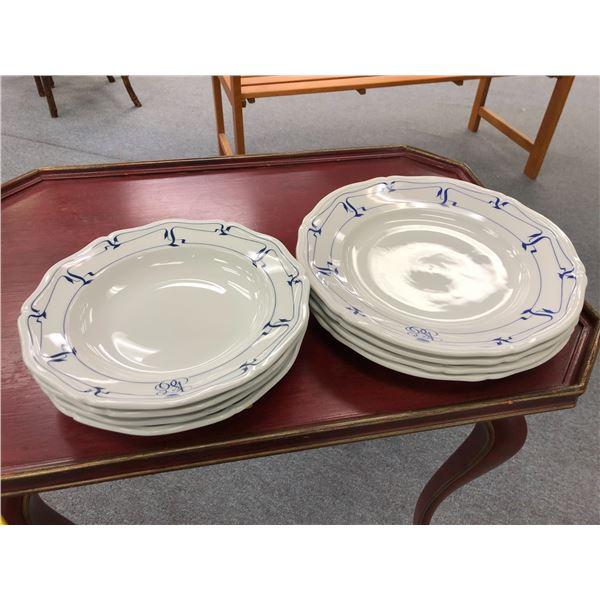 Eight pc. Set Vista Alegre Portugal & Limoges France fine porcelain Venice orient-express 1983 - 4 p
