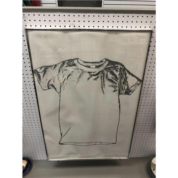 "Vintage framed ""T-Shirt"" limited edition artist proof 1/1 signed bottom right corner by artist 1982"