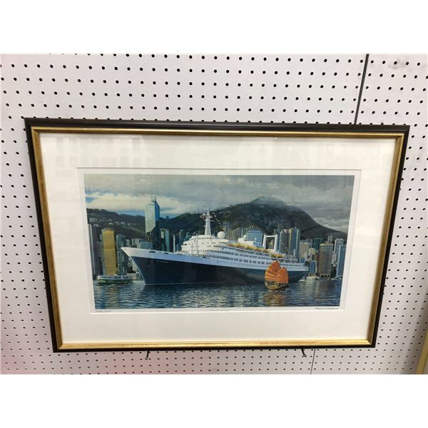 """Framed limited edition print """"END OF AN ERA"""" #244/900 by Alan H. Nakano w/ COA - approx. 33in x 23in"""