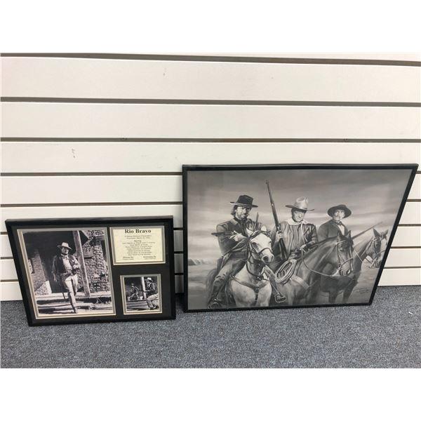 "Framed John Wayne ""Rio Bravo"" collector's photo set & framed John Wayne, Clint Eastwood & Company on"