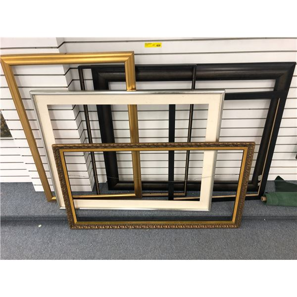 Group of 6 large picture frames
