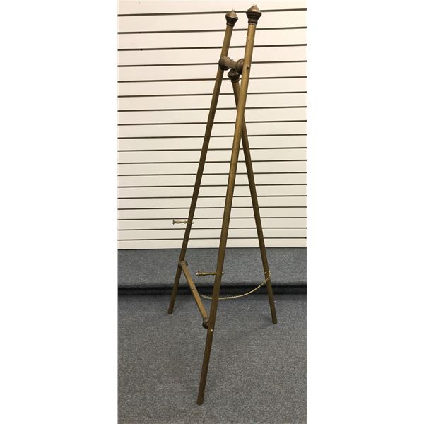 Brass art display easel