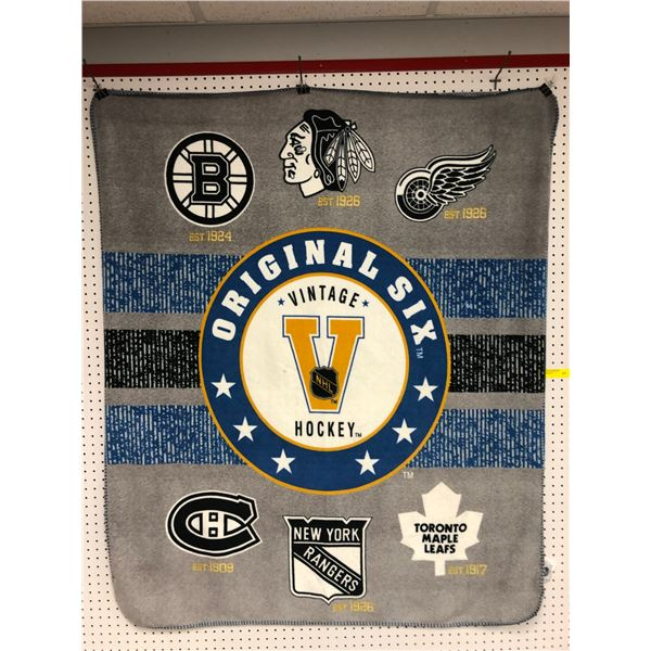 Original Six vintage NHL hockey blanket