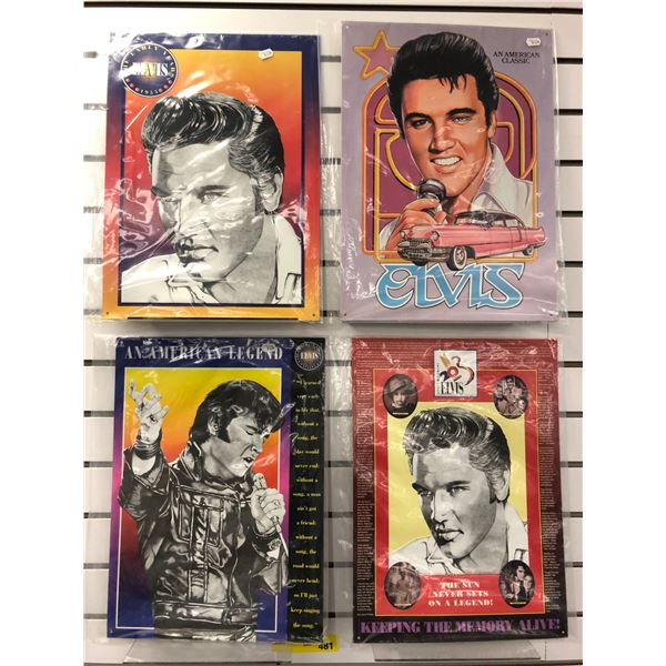 Group of 4 Elvis Presley tin collector's signs - each sign measures approx. 12in x 17in
