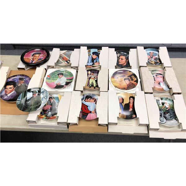 Group of 15 Elvis Presley collector's plates w/ boxes & paperwork