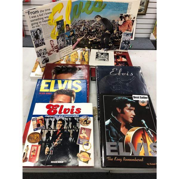 Group of 7 assorted Elvis Presley hardcover collector's books