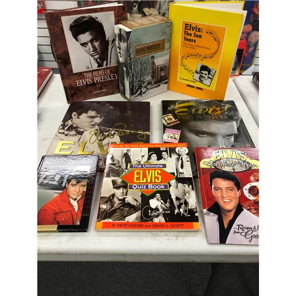 Group of 8 assorted Elvis Presley collector's books