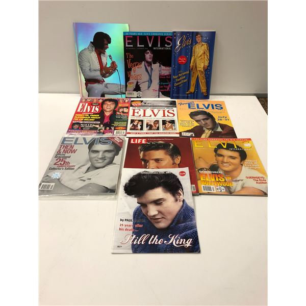 Group of 11 assorted Elvis Presley collector's magazines