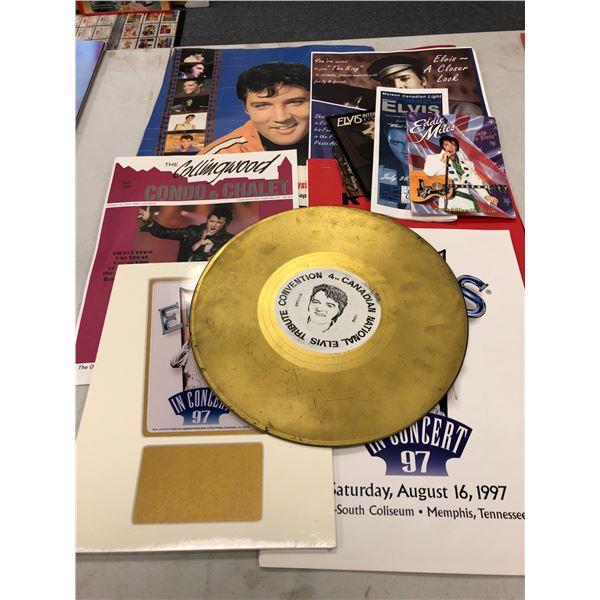 Group of assorted Elvis Presley impersonators memorabilia & tribute concert items