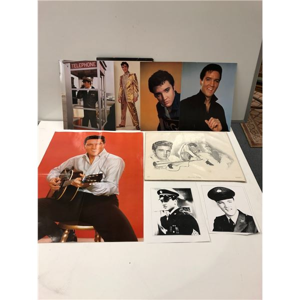 Group of 8 assorted Elvis Presley collector's posters & pictures