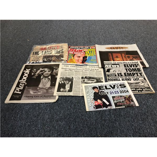 Group of assorted vintage newspapers w/ Elvis Presley headlines of his death including The Toronto S