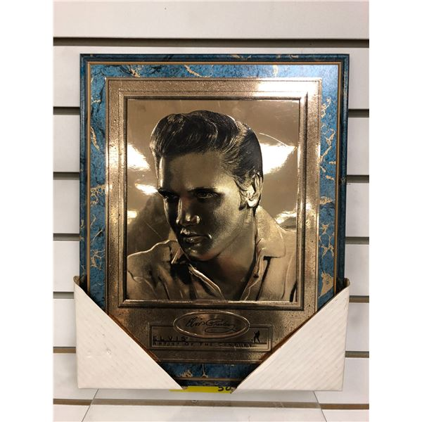 Elvis Presley Artist of The Century gold foil collectible decorative wall hanging - approx. 12in x 1
