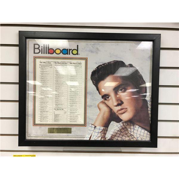 Framed Elvis Presley Heartbreak Hotel #1 Single - Week of Apri1 21, 1956 Billboard collectible decor