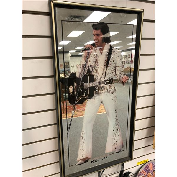 Framed Elvis Presley collectible mirror 1935-1977 - approx. 15in x 29in