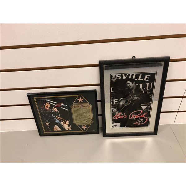 Two Elvis Presley framed collectible prints - approx. 12in x 9in & 8in x 10in
