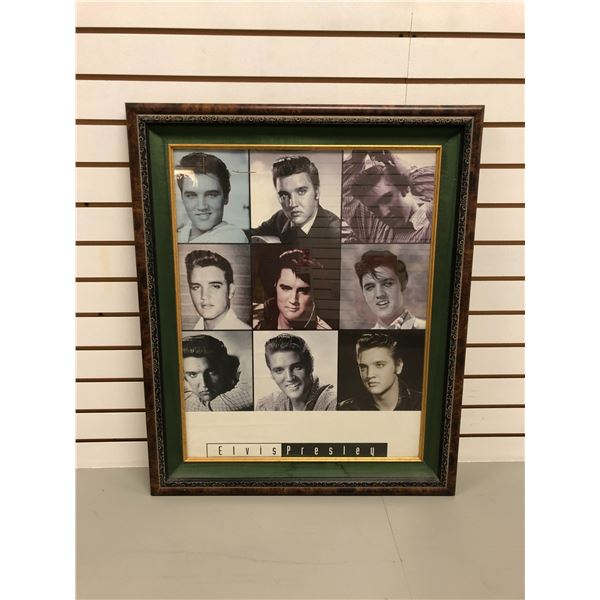 Framed Elvis Presley collector's print - approx. 26in x 31 1/2in