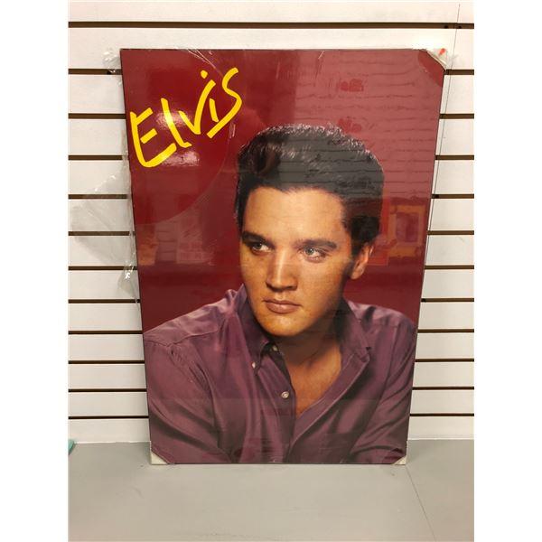 Elvis Presley print on board - approx. 34in x 23in