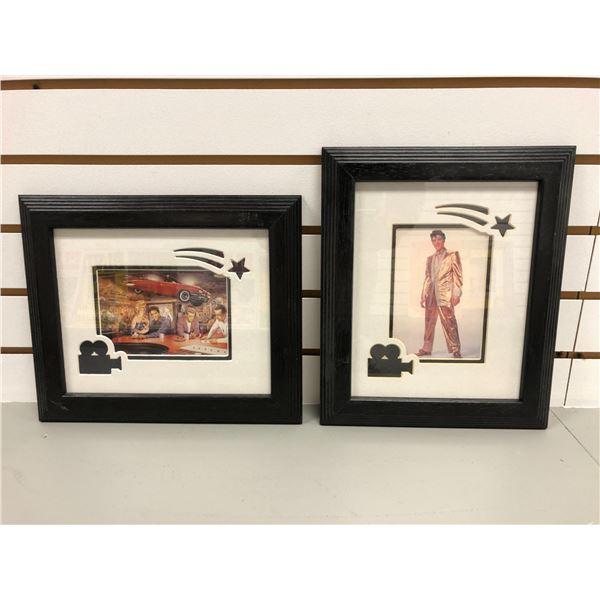 Pair of Elvis Presley framed Hollywood movie star prints - approx. 10in x 12in each