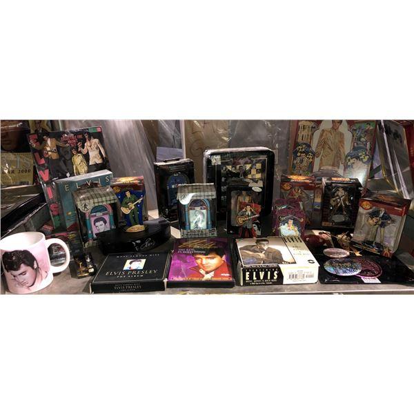 Shelf lot of assorted Elvis Presley memorabilia
