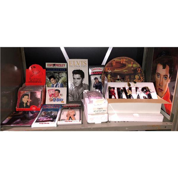 Shelf lot of assorted Elvis Presley assorted collectibles