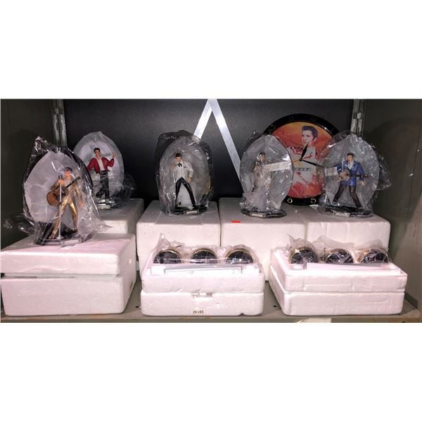 Shelf lot of assorted Elvis Presley collectible figurines w/ COAs