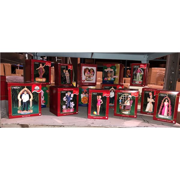 Group of 16 Carlton Cards nostalgic Hollywood stars & famous singers Christmas tree ornaments