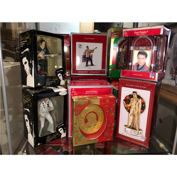 Group of 12 Elvis Presley collectible Christmas tree ornaments