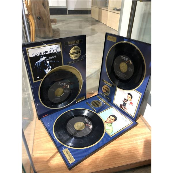 """Group of 3 Elvis Presley 45RPM records - collector's authorized edition """"Are you lonesome tonight?""""/"""