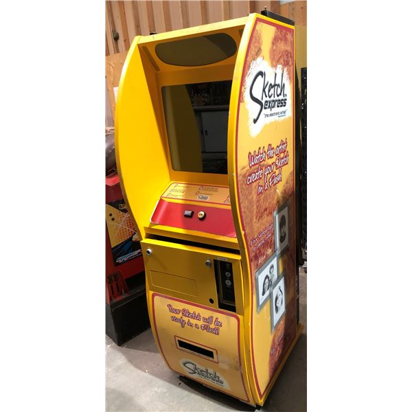 """Sketch express """"the electronic artist"""" coin operated carnival/arcade machine (untested as -is)"""
