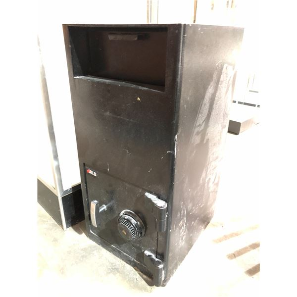 ALS drop box combination safe - black w/ combination