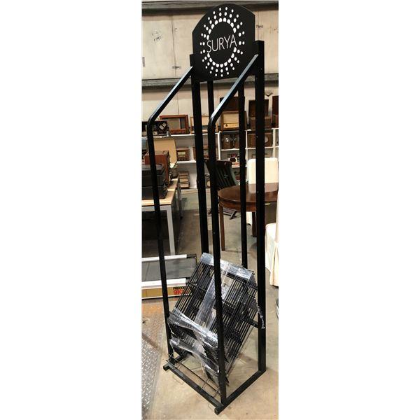 Surya all metal black racking display stand