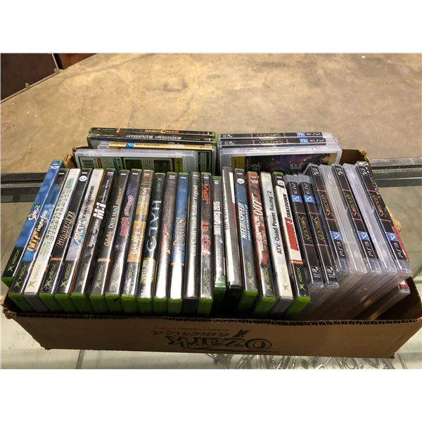 Box of 37 assorted X BOX & PS3 games
