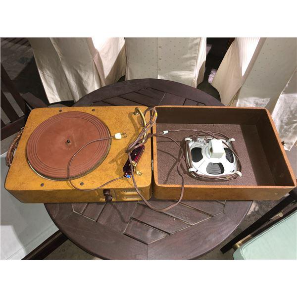 Vintage Caliphone 60J portable turn table