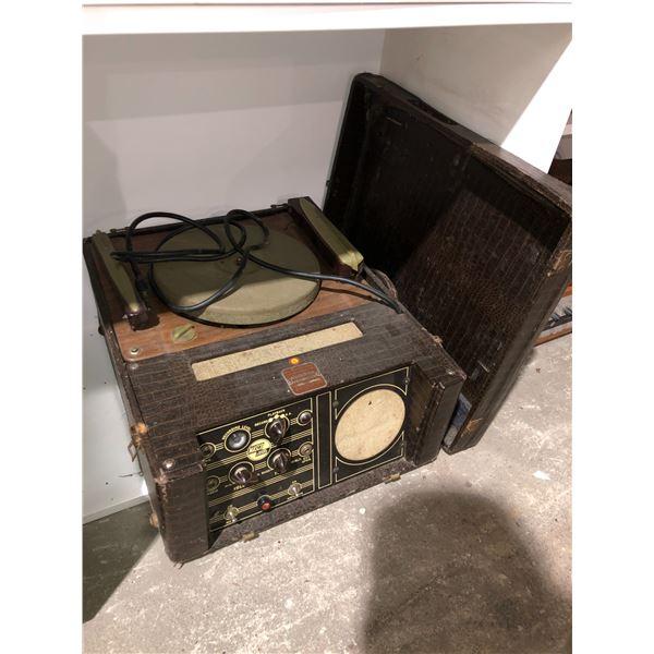Vintage Masco sound systems portable turn table