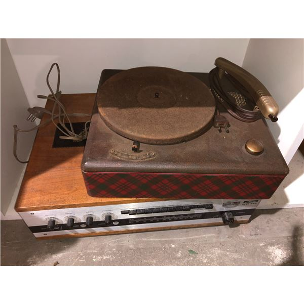 Vintage Metz HIFI 485 radio & vintage turn table