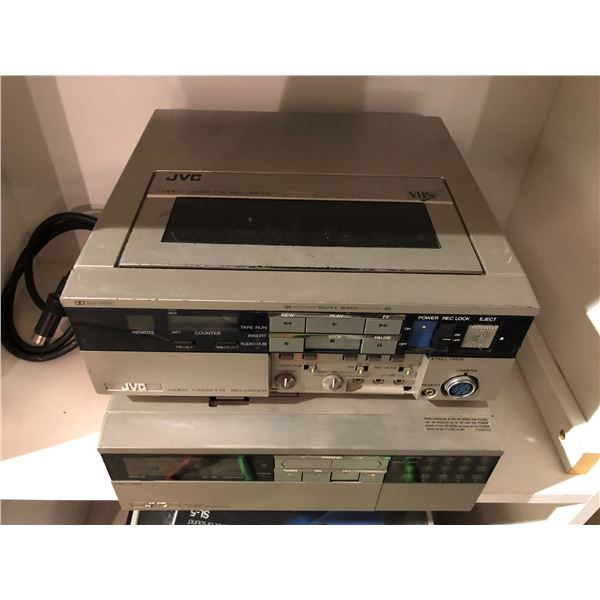 Two pc. Vintage JVC VHS player