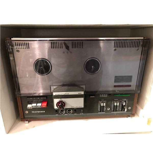 Vintage magnetophon 443 reel to reel tape player