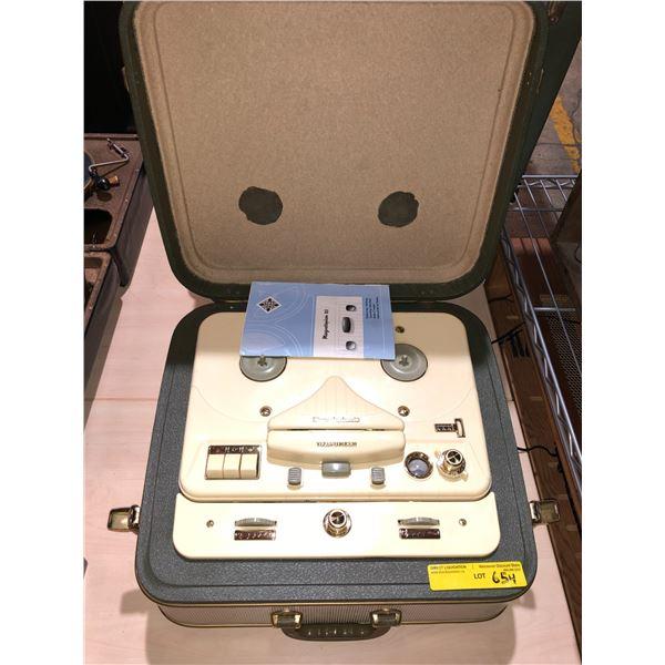 Vintage Telefunken magnetophon 85 reel to reel tape recorder/ player